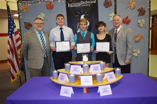 Photo of the National Technical Honor Society Inductees